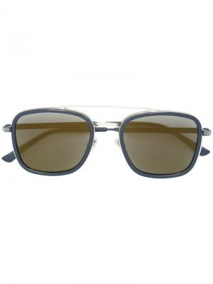 Солнцезащитные очки в квадратной оправе Jimmy Choo Eyewear. Цвет: черный