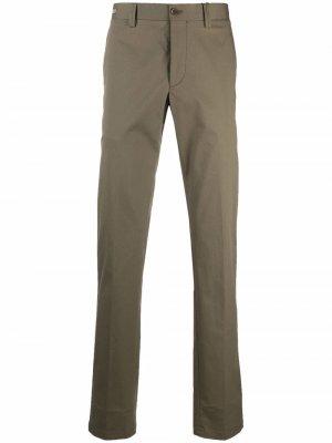 Прямые брюки с завышенной талией Corneliani. Цвет: зеленый