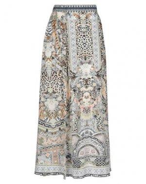 Длинная юбка CAMILLA. Цвет: зеленый-милитари