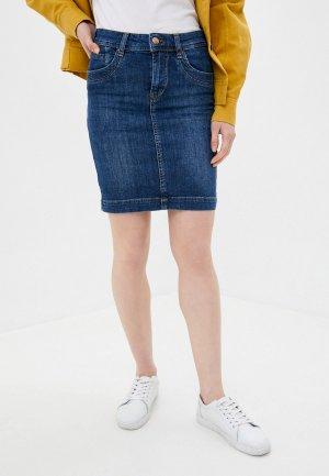 Юбка джинсовая Dairos. Цвет: синий