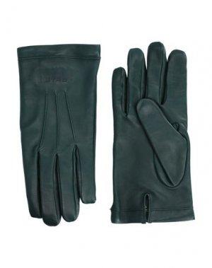 Перчатки ETRO. Цвет: зеленый
