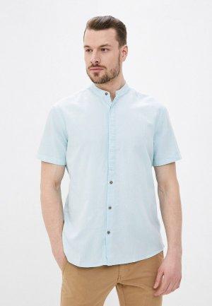 Рубашка Al Franco. Цвет: бирюзовый