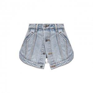 Джинсовые шорты Denim X Alexander Wang. Цвет: синий