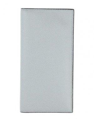 Бумажник VALEXTRA. Цвет: светло-серый