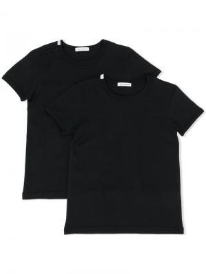 Комплект из двух футболок с логотипом Dolce & Gabbana Kids. Цвет: черный
