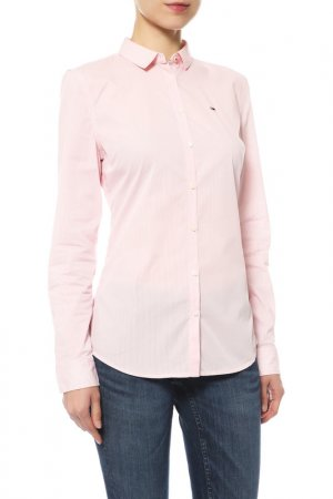 Блуза Tommy Jeans. Цвет: 902, pink icing, bright white