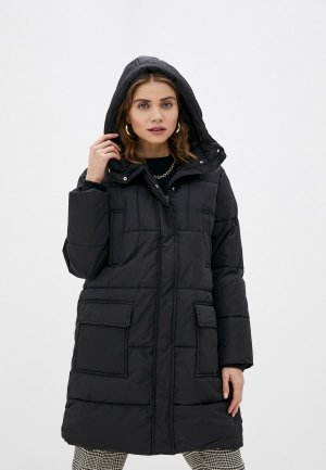 Куртка утепленная Befree. Цвет: черный