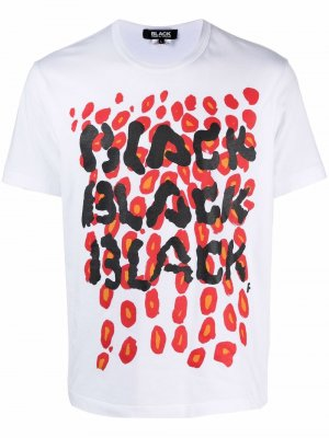 Футболка с графичным принтом Black Comme Des Garçons. Цвет: белый