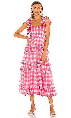 Макси платье berenice Sundress. Цвет: розовый