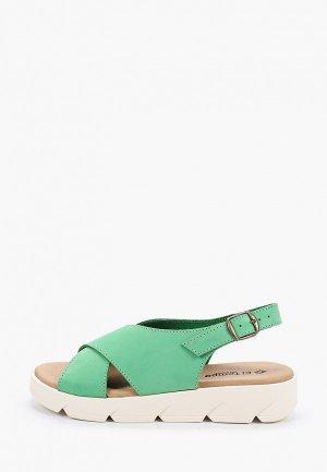 Сандалии El Tempo. Цвет: зеленый