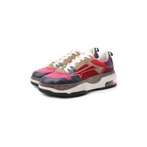 Комбинированные кроссовки Drake-D Premiata. Цвет: розовый