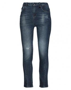 Джинсовые брюки RELISH. Цвет: синий