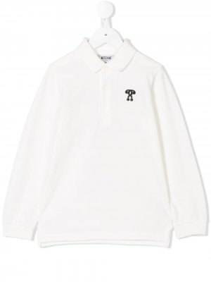 Logo printed polo shirt Moschino Kids. Цвет: белый