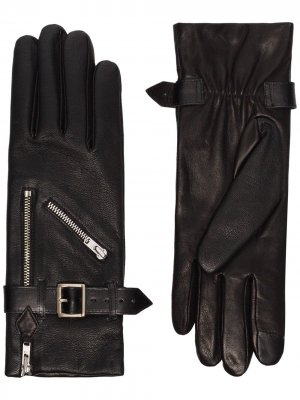 Перчатки Barbra с пряжками Agnelle. Цвет: черный