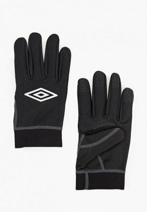 Перчатки Umbro FIELD PLAYER GLOVE. Цвет: черный