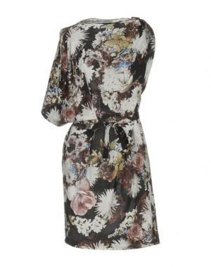 Короткое платье EMMA COOK. Цвет: бежевый