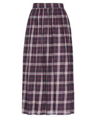 Длинная юбка CAPPELLINI by PESERICO. Цвет: темно-синий