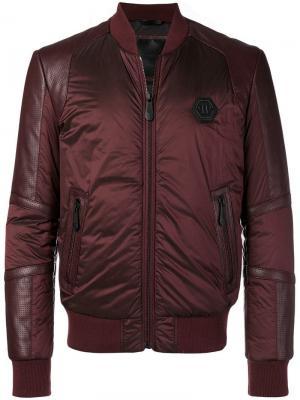 Куртка-бомбер на молнии Philipp Plein. Цвет: красный