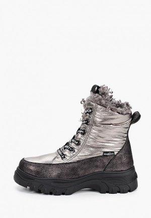 Ботинки King Boots. Цвет: серебряный
