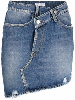 Meggy asymmetric denim skirt ICON. Цвет: синий