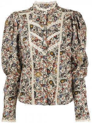 Блузка с цветочным принтом Isabel Marant Étoile. Цвет: нейтральные цвета