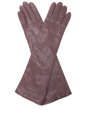 Длинные перчатки из кожи SERMONETA GLOVES
