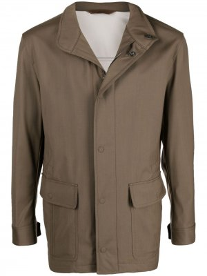 Куртка на молнии Brioni. Цвет: зеленый