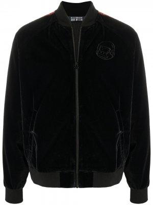 Бархатная спортивная куртка с вышитым логотипом Billionaire Boys Club. Цвет: черный