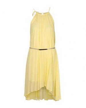 Платье до колена ALBA CONDE. Цвет: желтый