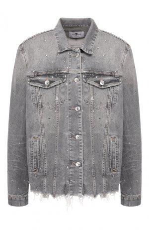 Джинсовая куртка 7 For All Mankind. Цвет: серый