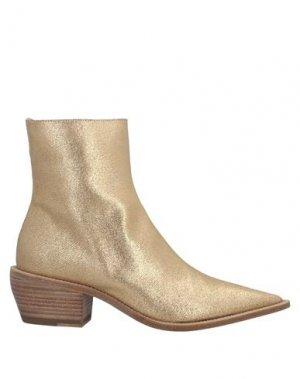 Полусапоги и высокие ботинки PREMIATA. Цвет: золотистый