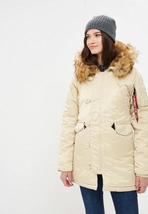 Куртка утепленная Alpha Industries N3B VF 59. Цвет: бежевый