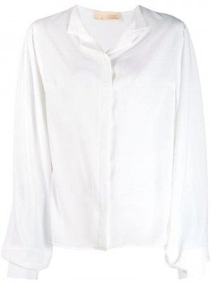 Рубашка свободного кроя Antonio Berardi. Цвет: белый