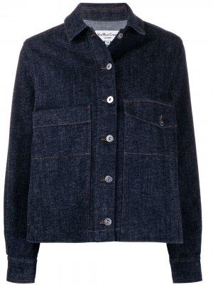 Джинсовая куртка свободного кроя YMC. Цвет: синий