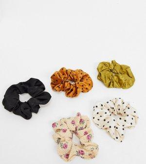 Набор резинок для волос бежевых оттенков -Мульти Stradivarius