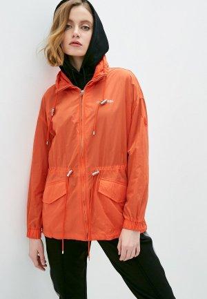 Ветровка Calvin Klein. Цвет: оранжевый