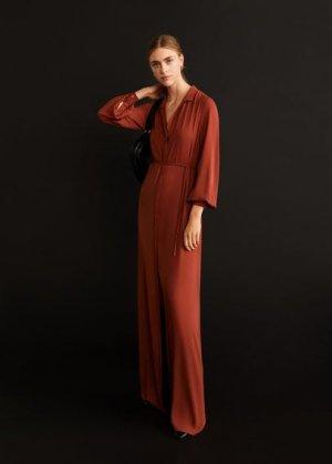 Длинное платье с бантом - Mia-a Mango. Цвет: красно-коричневый