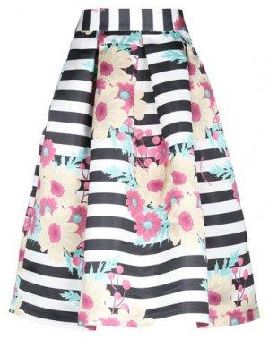Юбка длиной 3/4 DRESS CODE. Цвет: черный