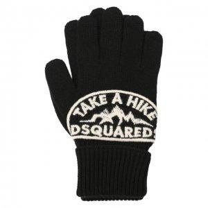 Шерстяные перчатки Dsquared2. Цвет: чёрный