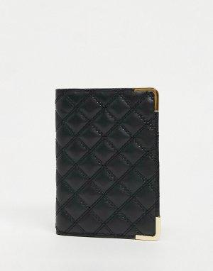 Стеганая обложка для паспорта -Черный ASOS DESIGN