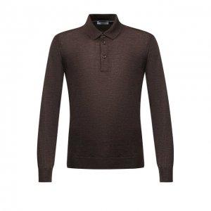 Поло из шерсти и шелка Gran Sasso. Цвет: коричневый