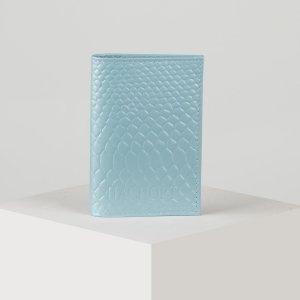 Обложка для паспорта, цвет голубой TEXTURA