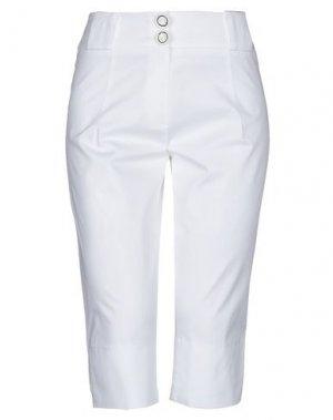 Брюки-капри ANNARITA N. Цвет: белый