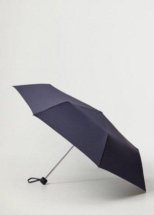 Складной однотонный зонт - Basic Mango. Цвет: глубокий темно-синий