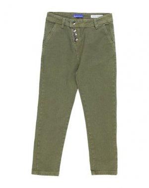 Джинсовые брюки GAUDÌ. Цвет: зеленый-милитари
