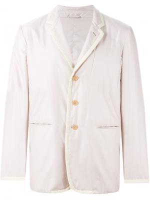 Дутый пиджак Helmut Lang Vintage. Цвет: бежевый