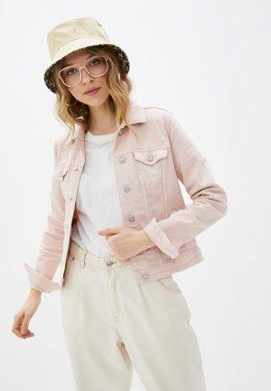Куртка джинсовая Springfield. Цвет: розовый
