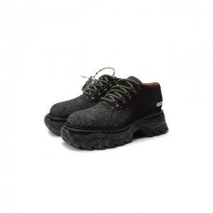 Кожаные ботинки Off-White. Цвет: чёрный