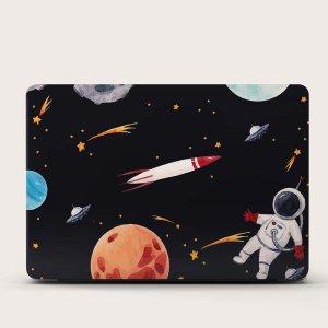 1 лист 15 дюймов защитная наклейка для ноутбука с принтом космоса SHEIN. Цвет: многоцветный