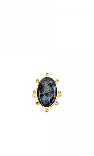 Кольцо eloise gorjana. Цвет: metallic gold,black